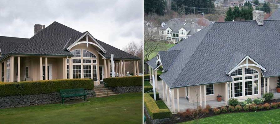 Composition Roofing - Before and After