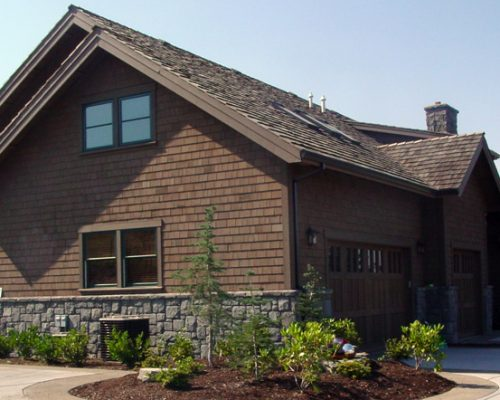 Dark Cedar Shingle Siding