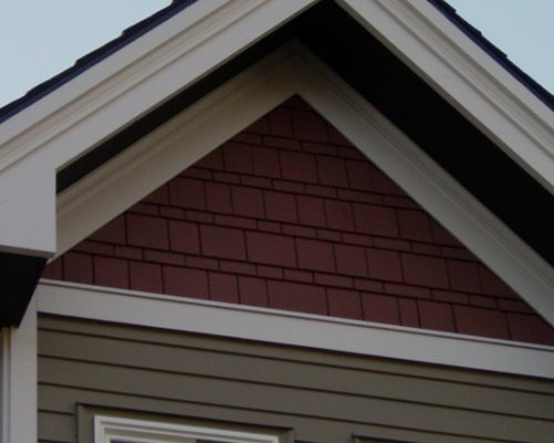 Cedar Shingle Siding - Gable Detail