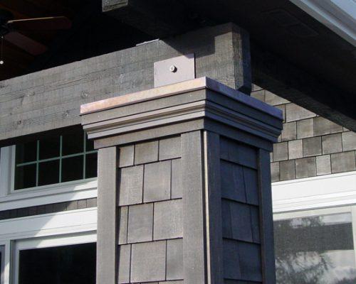 Cedar Shingle Siding - Column Detail