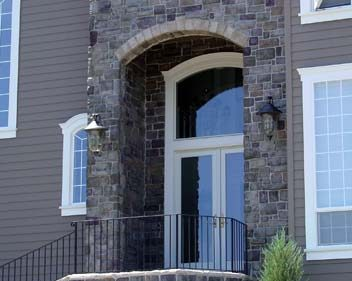 Cultured Stone Siding - Front Porch