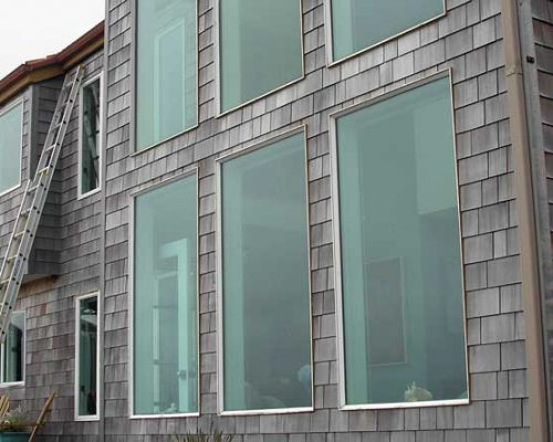 Cedar Shingle Siding - Oregon Coast - Before