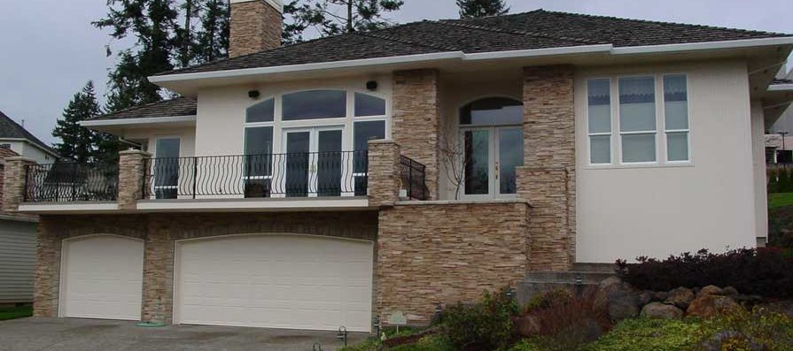 EIFS Tear-Off to Cultured Stone & Vertical Cedar - After