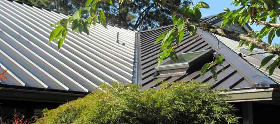 Standing Seam Metal Roofing with Skylight