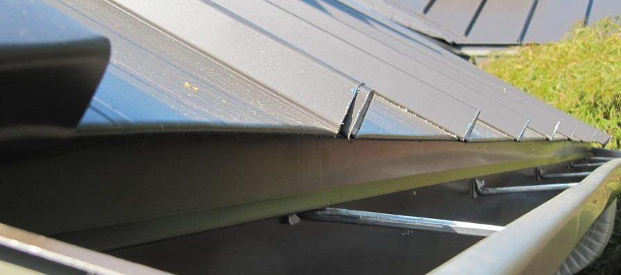 Standing Seam Metal Roofing - Cleated Drip Edge