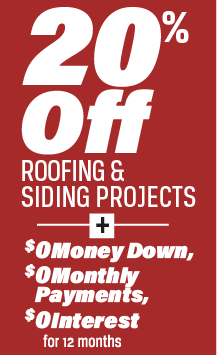 Special Offer Spring Roofing And Siding Sale