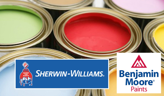Benjamin Moore Sherwin Williams Paints