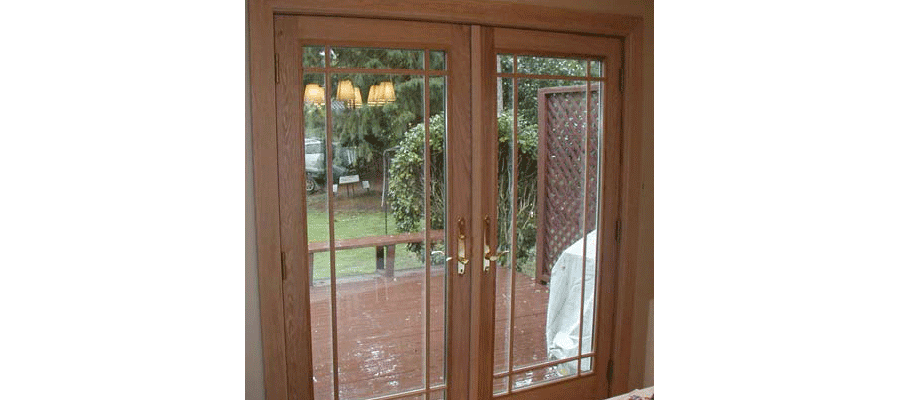 Patio doors portland oregon door installation in for Wood french patio doors